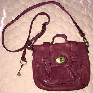Fossil burgundy color pocketbook